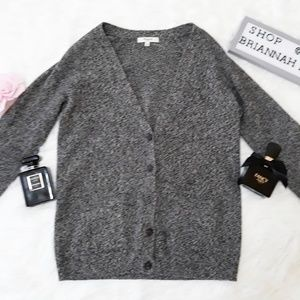 {Madewell} dark heather gray journal cardigan